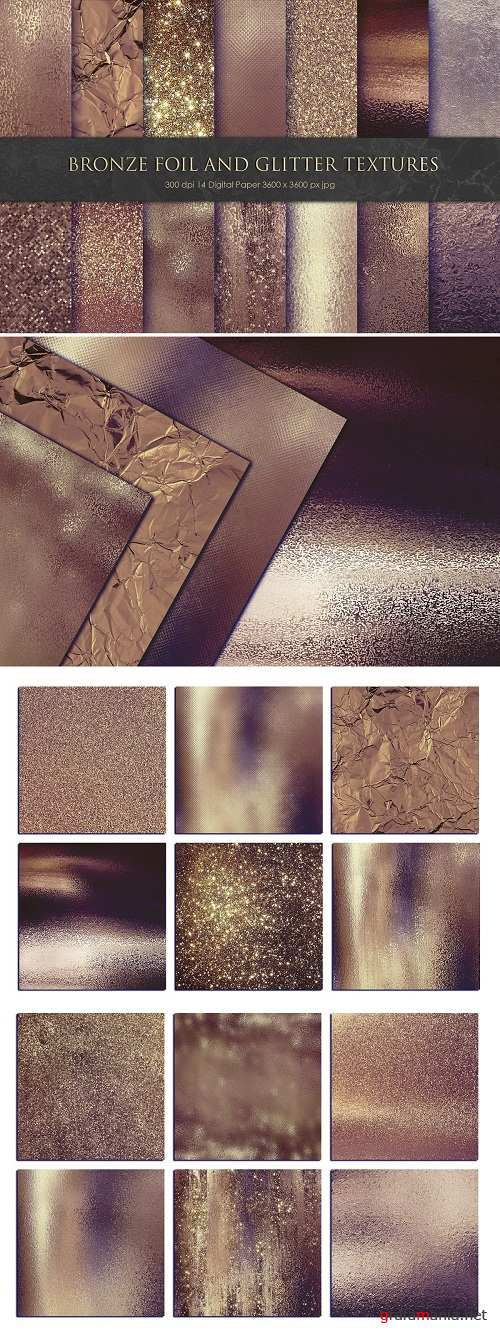 Bronze Foil and Glitter Textures - 3333824