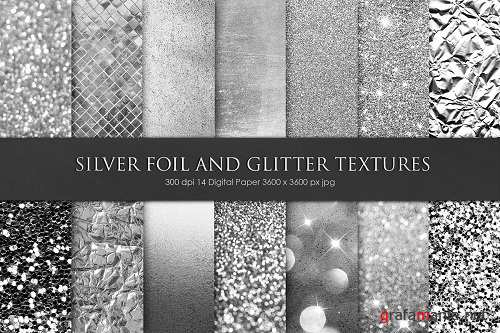 Silver Foil and Glitter Textures - 3315515