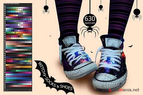 Witchy Socks & Shoes PS and Ai Swatches - 2898168 - 2873705