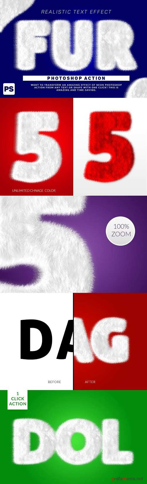 Wool Text Effect Photoshop Action 3165755