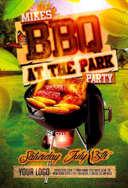 BBQ Summer psd flyer template