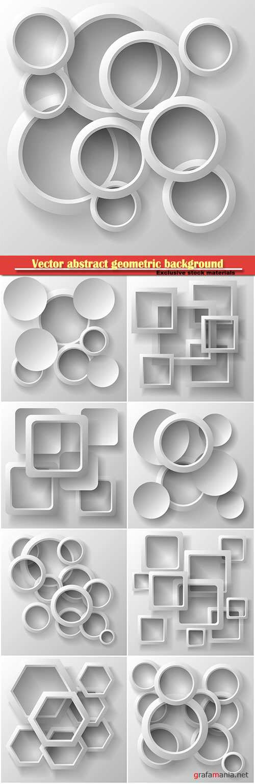 Vector illustration of an abstract geometric background, 3d render