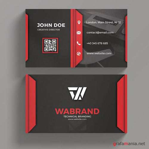 Red Art - business card templates