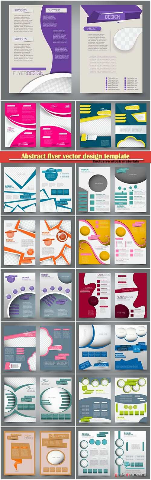 Abstract flyer vector design template, business brochure