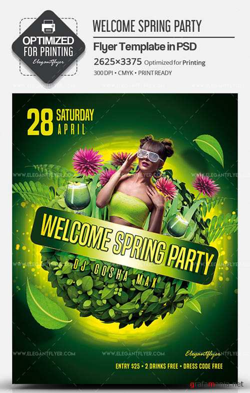 Welcome Spring Party V4 2019 Flyer PSD Template