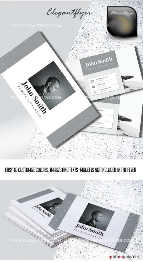 Project Manager V1 2019 PSD Business Card Template