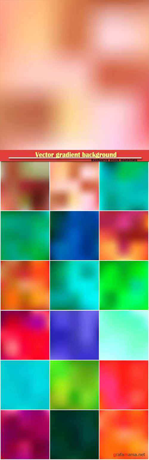 Vector gradient background, multicolored blurred wallpaper