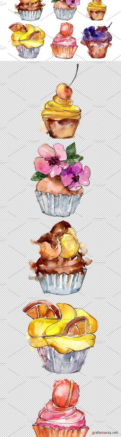Dessert friday Watercolor png - 3568196