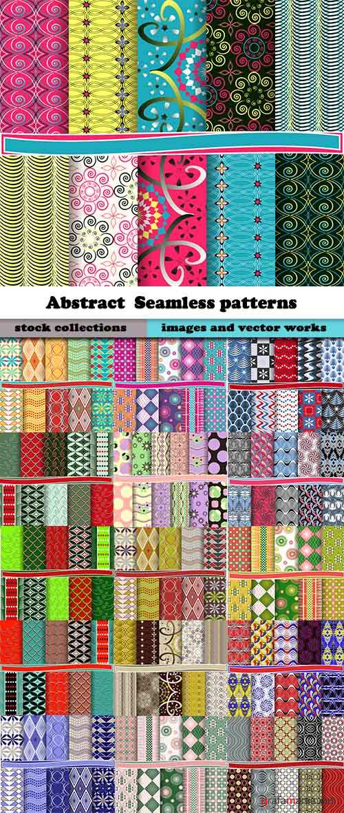 Abstract  Seamless patterns in vector set from stock #16 - 25 Eps
