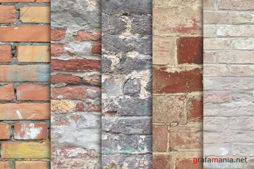 Old Brick Wall Textures x10 - 3662826
