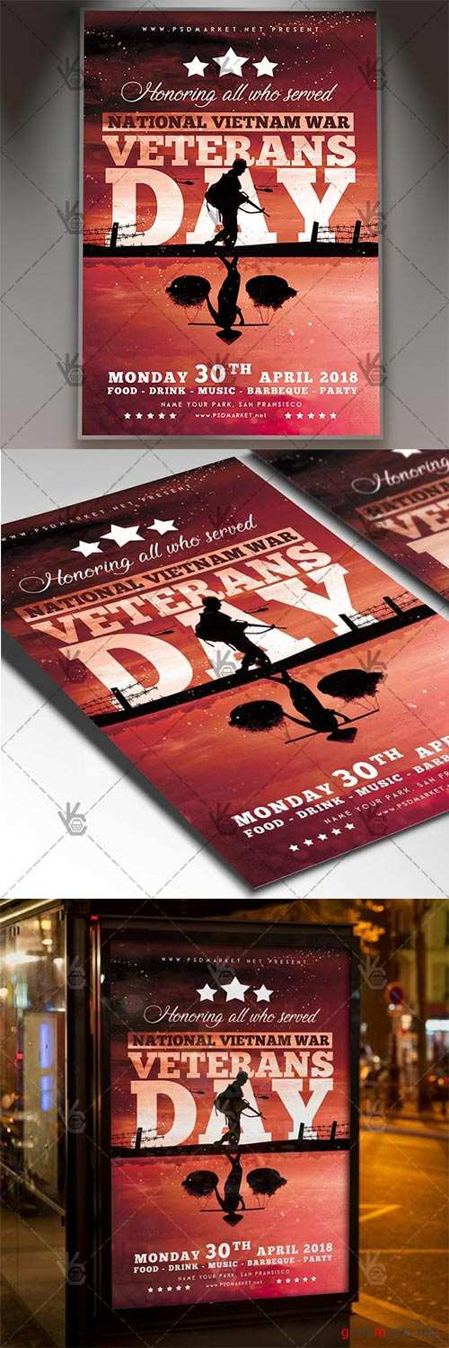 Vietnam Veterans Day Flyer – American PSD Template