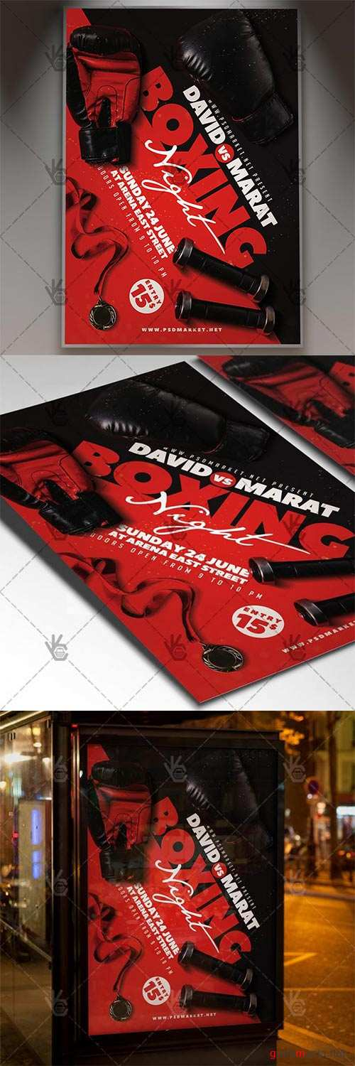 Boxing Night Flyer – Sport PSD Template