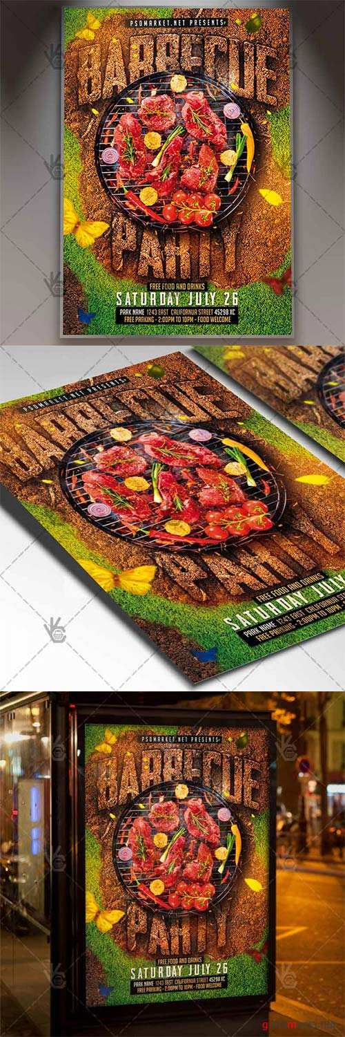 Barbecue Flyer – Grill PSD Template