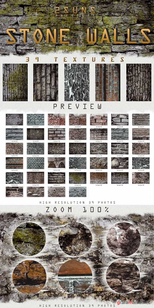 Stone walls textures, brick wall, walls background old - 242269