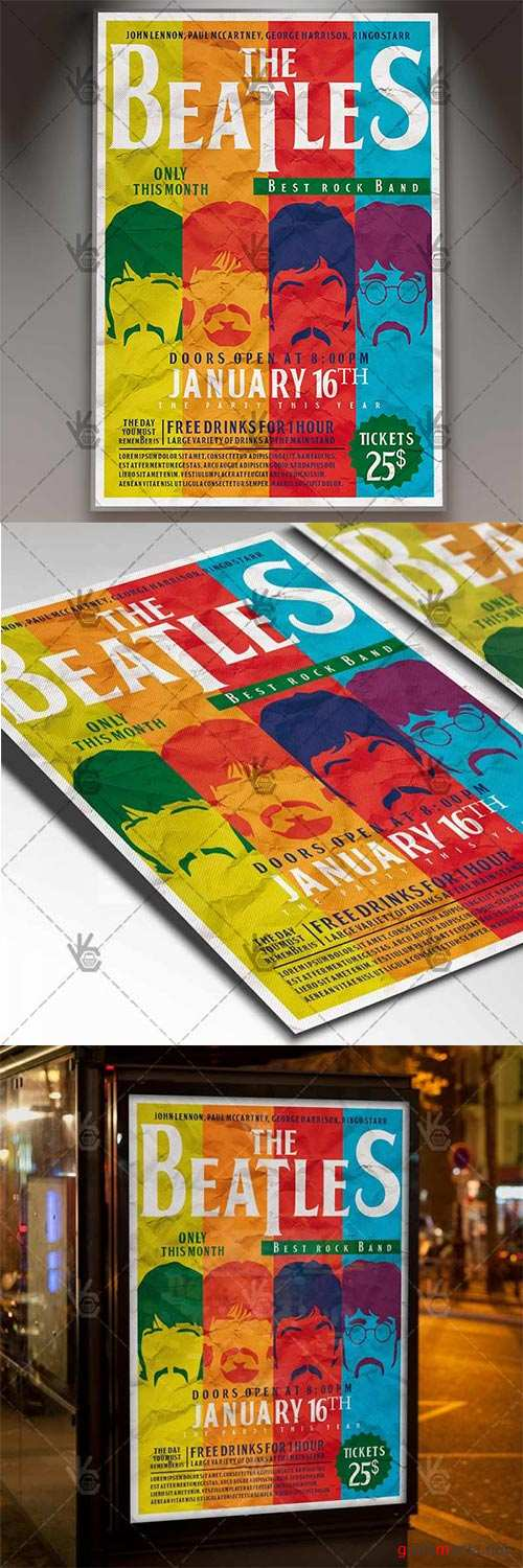 Beatles Day – Club Flyer PSD Template