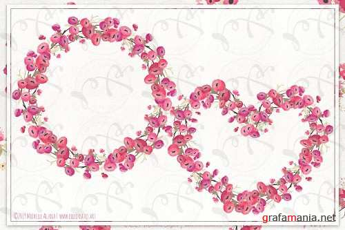 Springtime 03 - Red and Pink Wreaths - 3696847
