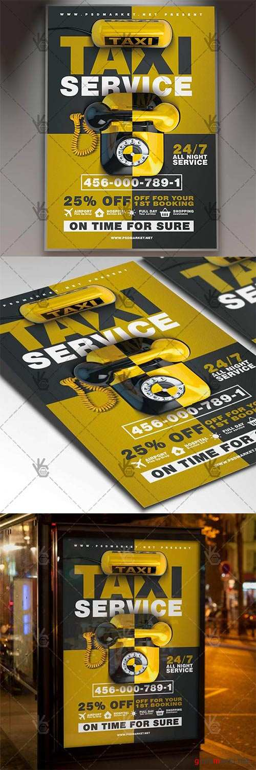 Taxi Service – Business Flyer PSD Template