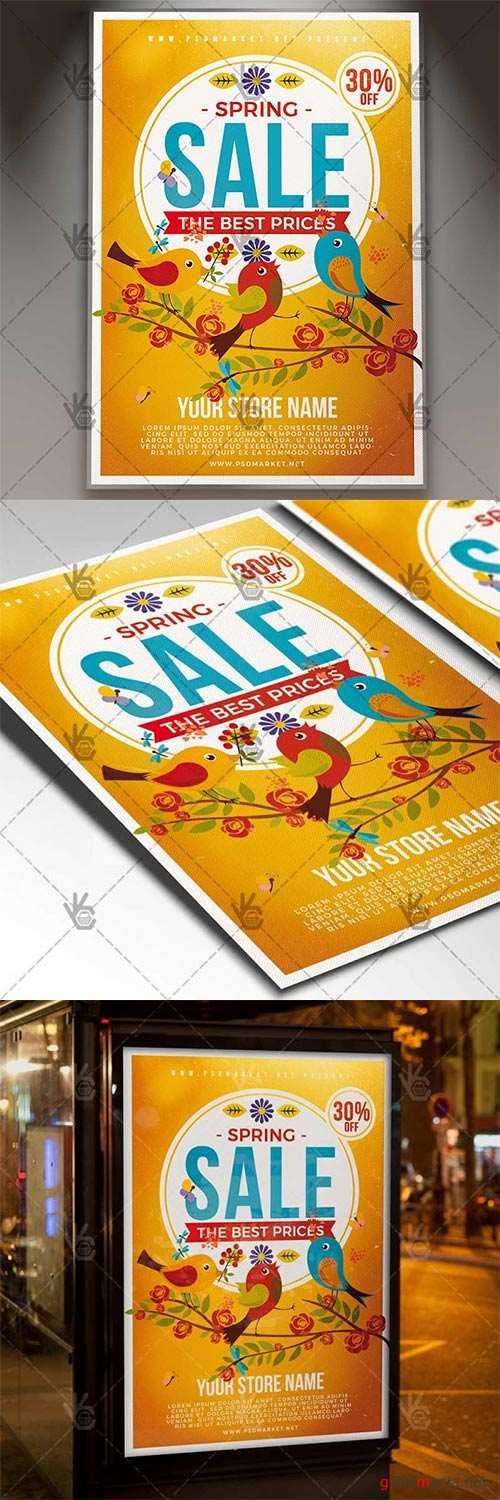 Spring Sale Event – Seasonal Flyer PSD Template