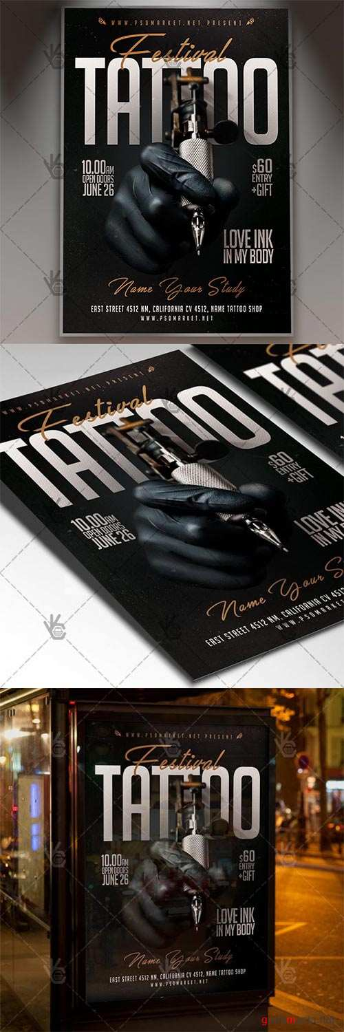 Tattoo Festival – Business Flyer PSD Template