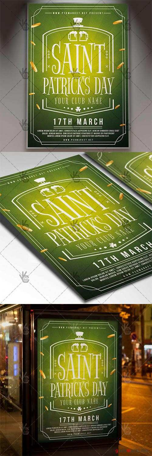 Saint Patricks Day Event – Club Flyer PSD Template