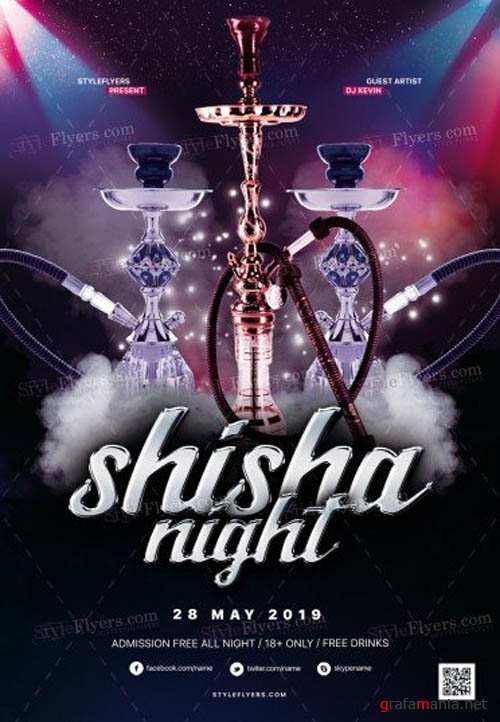Shisha Night V1 2019 PSD Flyer Template