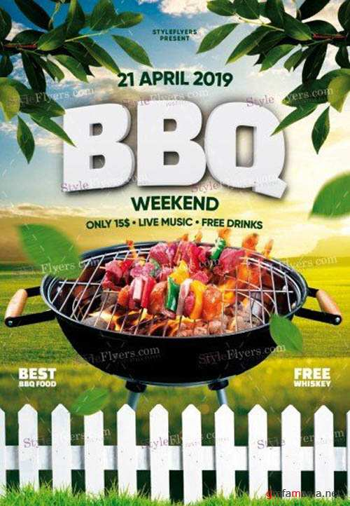BBQ V1 2019 PSD Flyer Template