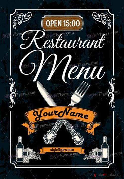 Restaurant Menu V5 2019 PSD Flyer Template