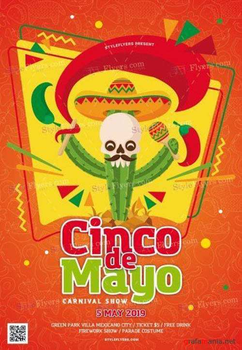Cinco De Mayo V11 2019 PSD Flyer Template