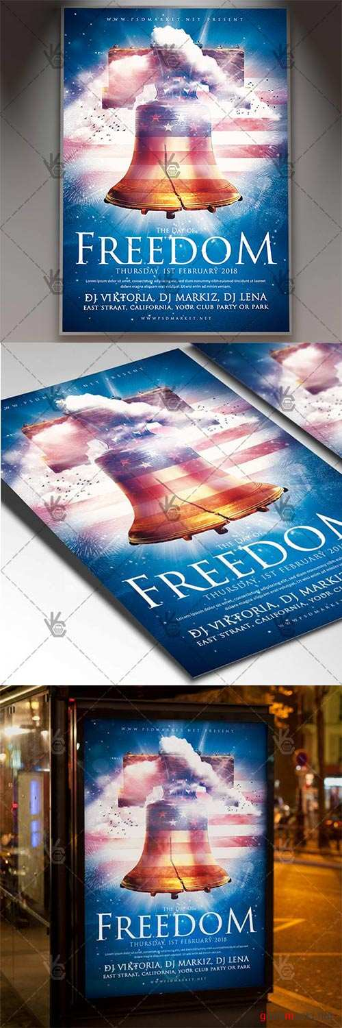National Freedom Day – American Flyer PSD Template