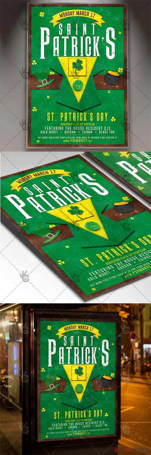 Happy Patrick's Day – Club Flyer PSD Template