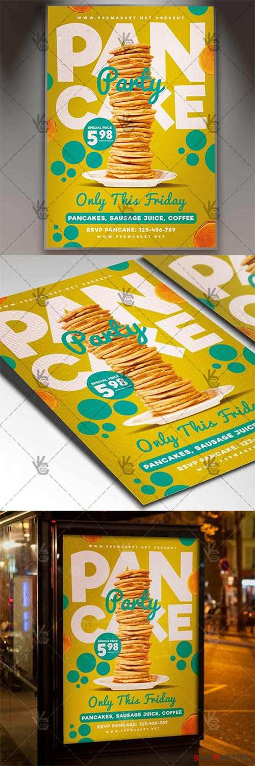 Pancake Party – Food Flyer PSD Template