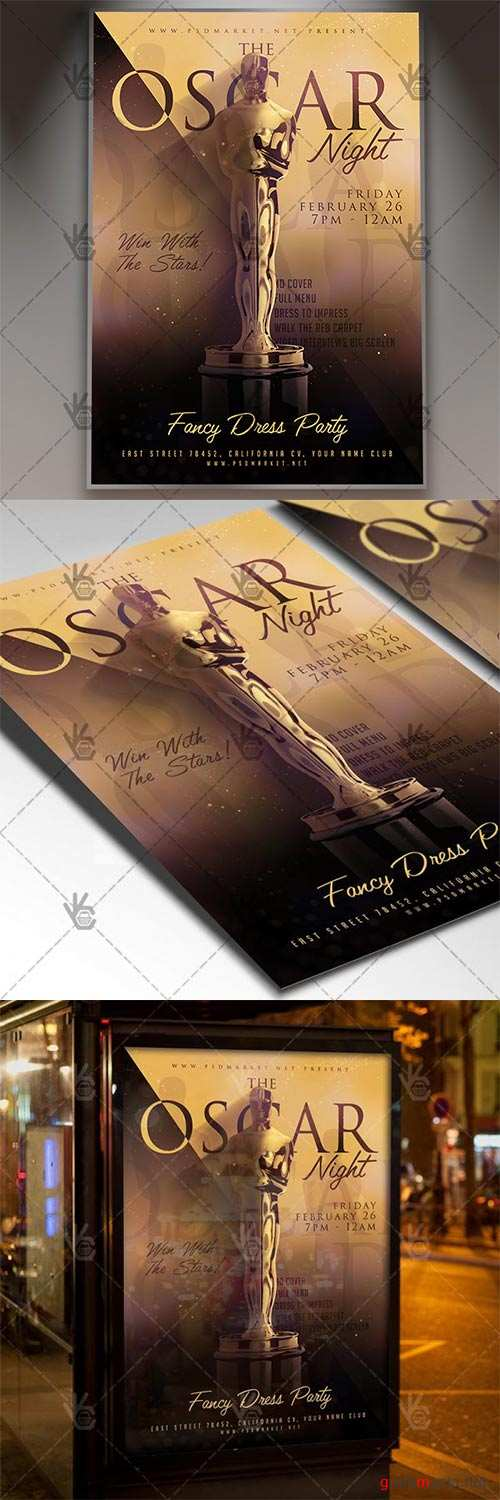 Oscar Night – Club Flyer PSD Template