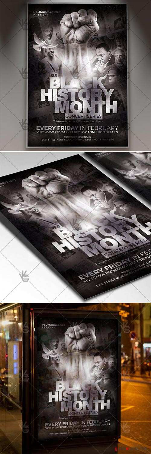 Black History Month Event – Club Flyer PSD Template