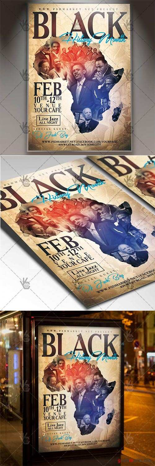 Black History Month – Club Flyer PSD Template