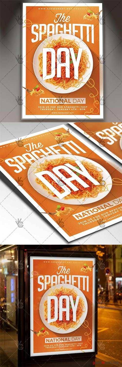 Spaghetti Day – American Flyer PSD Template