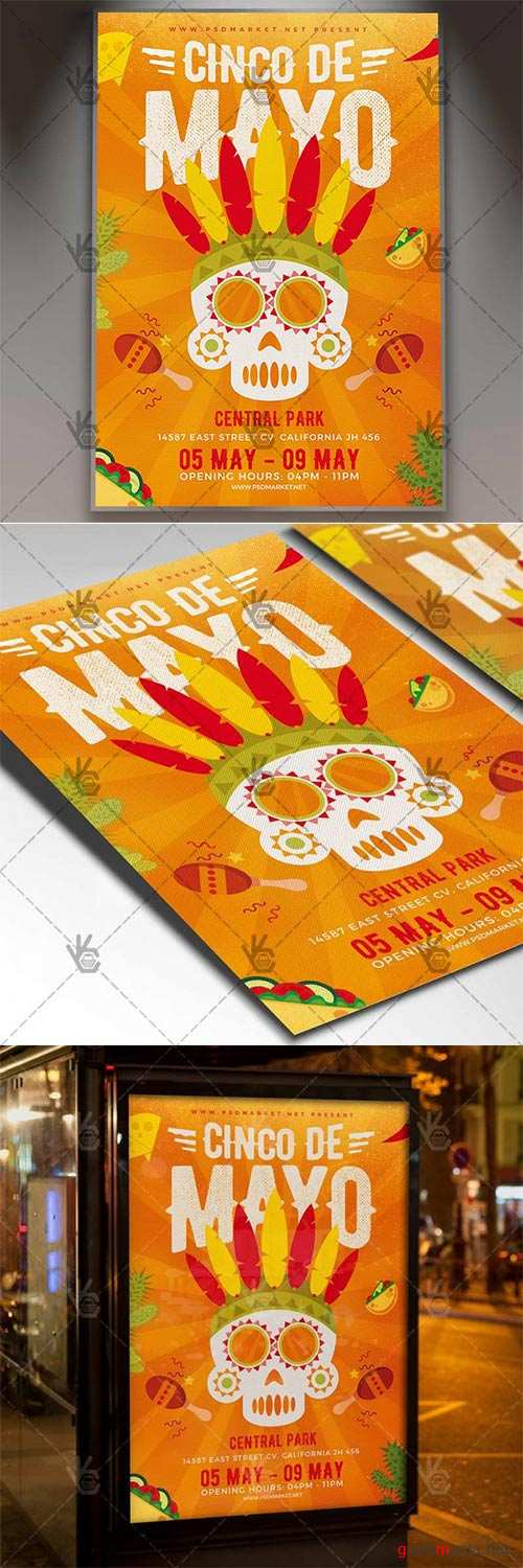 5 De Mayo Flyer – Mexican PSD Template