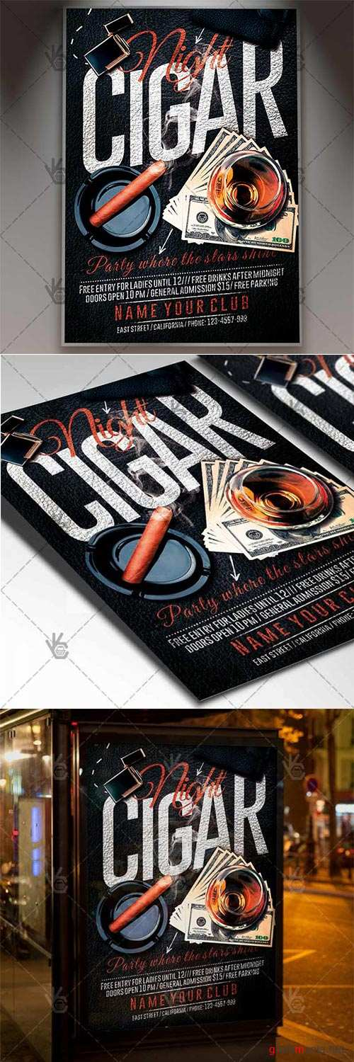 Cigar Night – Club Flyer PSD Template