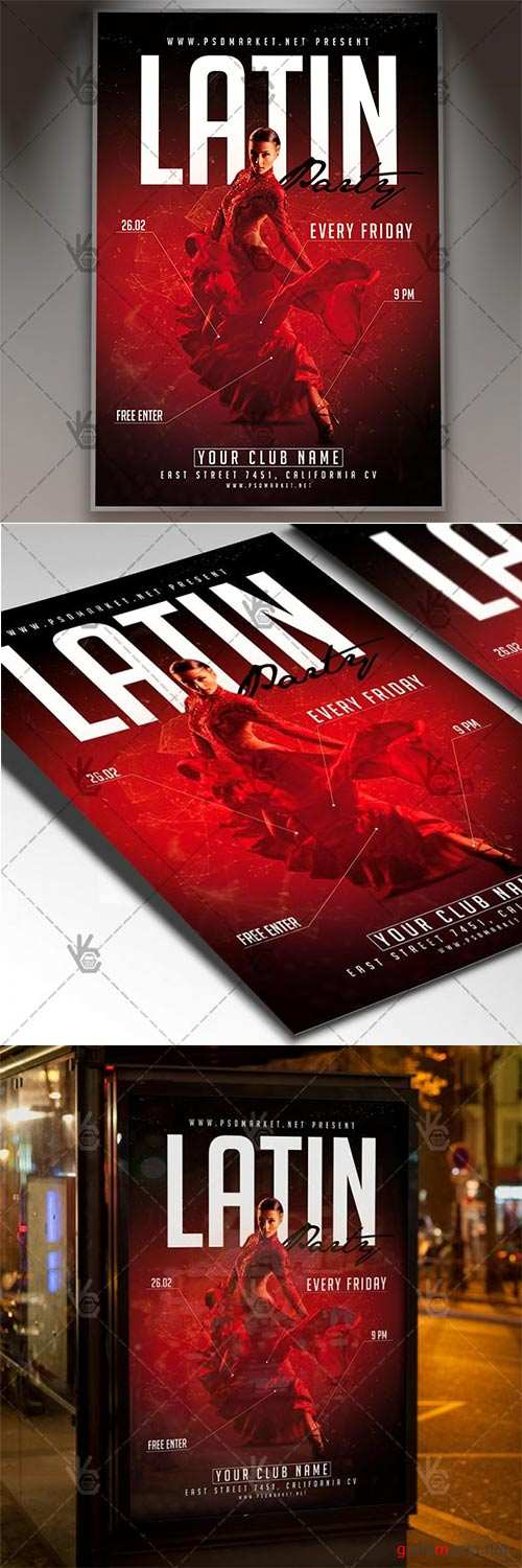 Latin Party – Club Flyer PSD Template