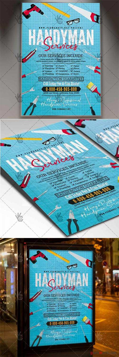 Handyman Services Flyer – Community PSD Template