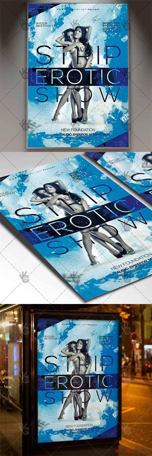 Strip Erotic Show – Club Flyer PSD Template
