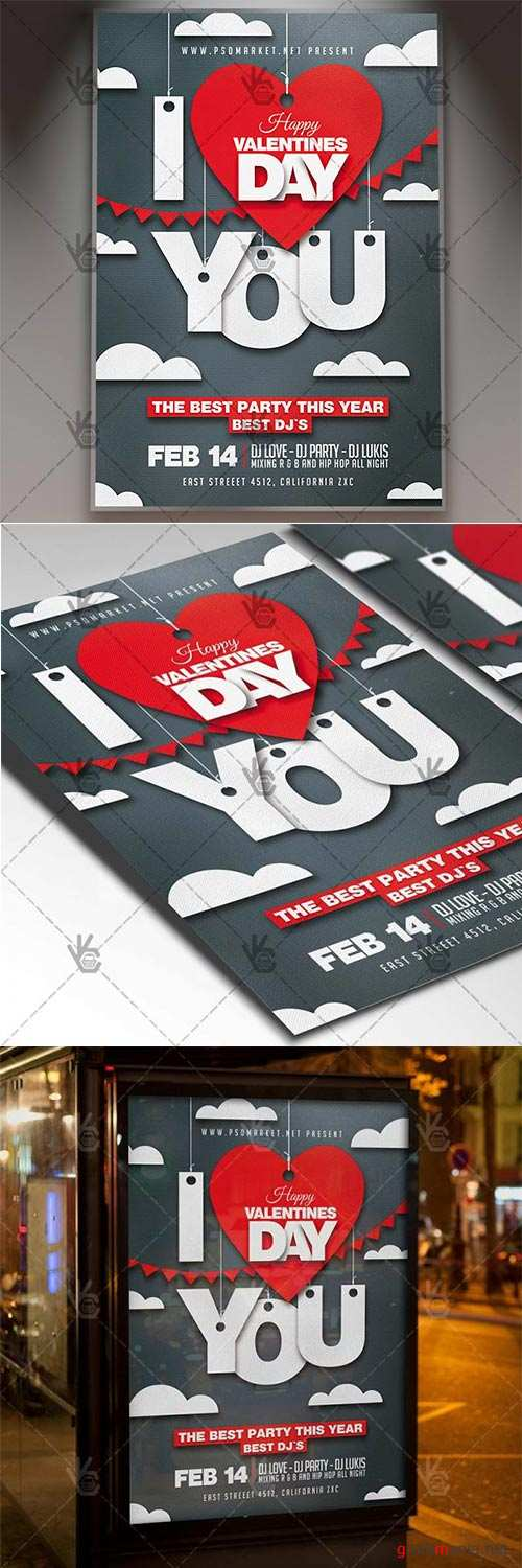 Love Night – Valentines Flyer PSD Template