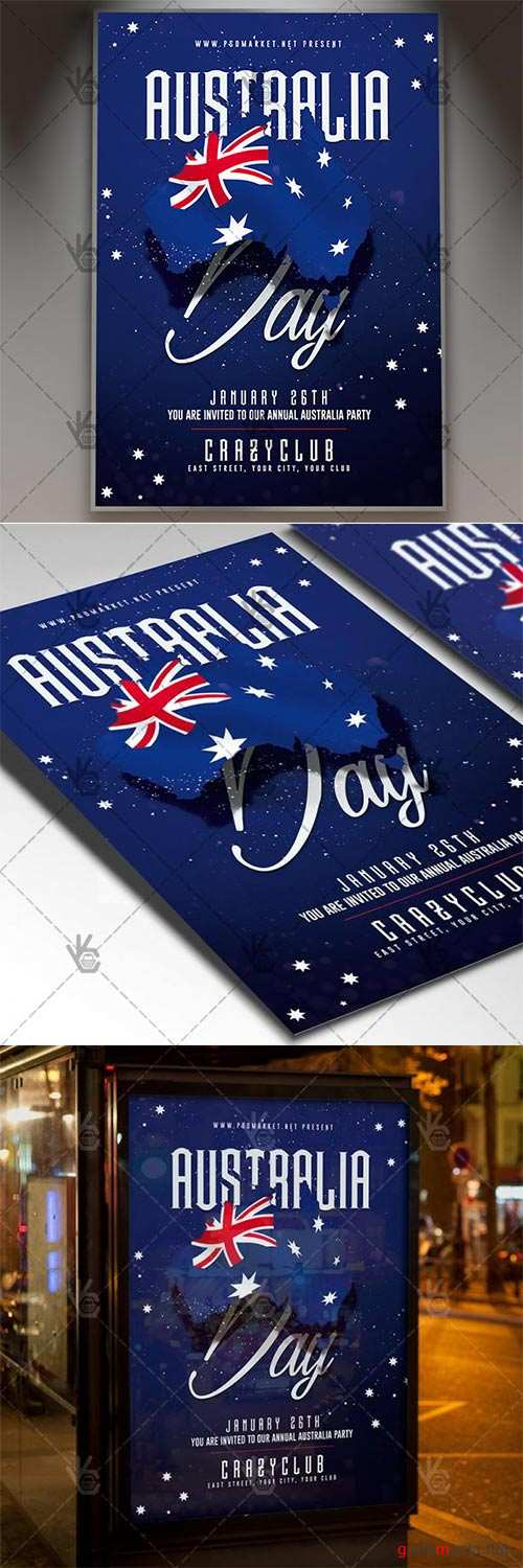 Australia Day Party – Club Flyer PSD Template