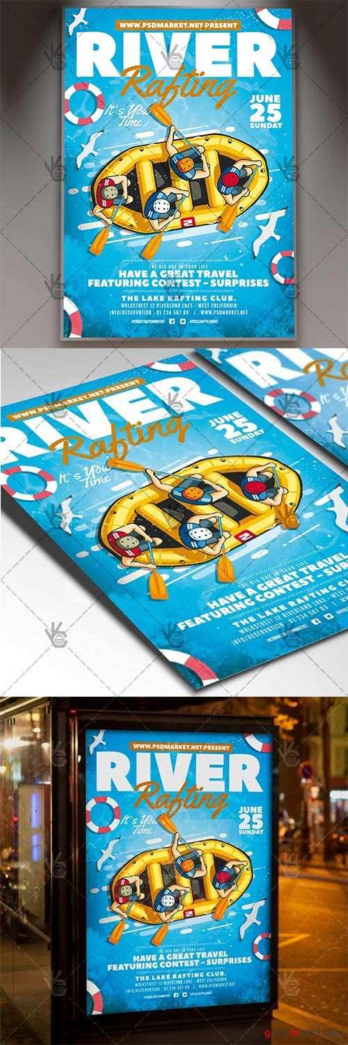 River Rafting Flyer – Sport PSD Template