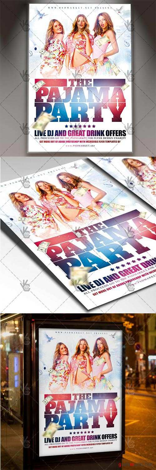 Pajama Party Flyer – Club Flyer PSD Template