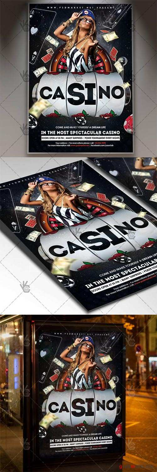 Casino Party – Club Flyer PSD Template