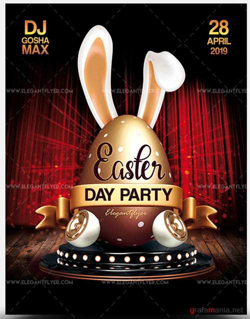 Easter Day Party V10 2019 PSD Flyer Template