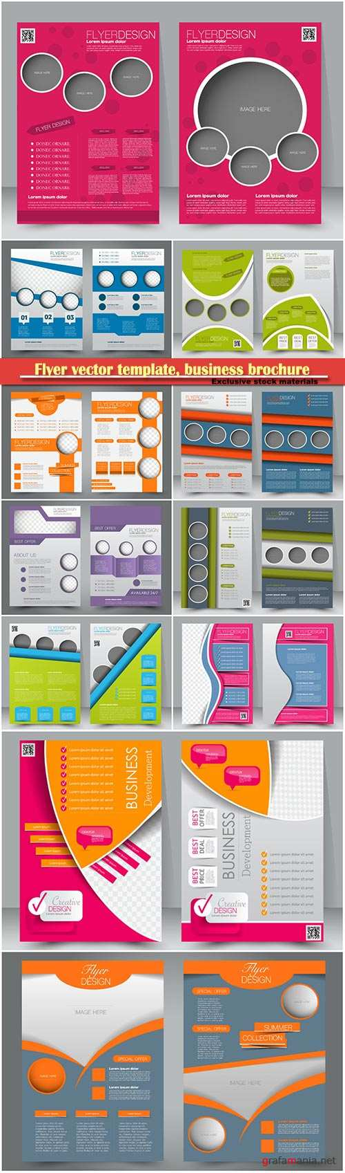 Flyer vector template, business brochure, magazine cover # 11