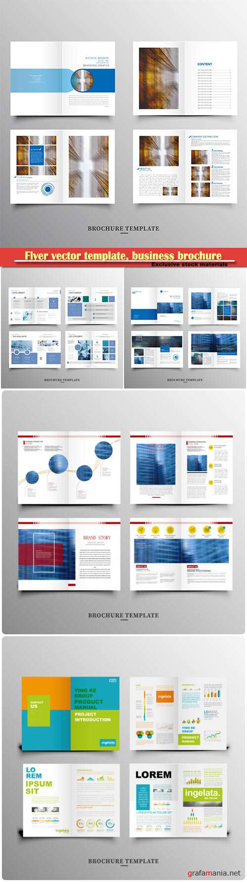 Flyer vector template, business brochure, magazine cover # 23