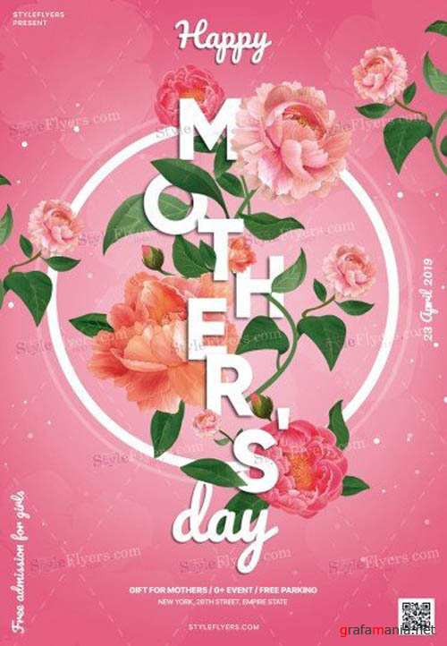 Mothers Day V14 2019 PSD Flyer Temlate