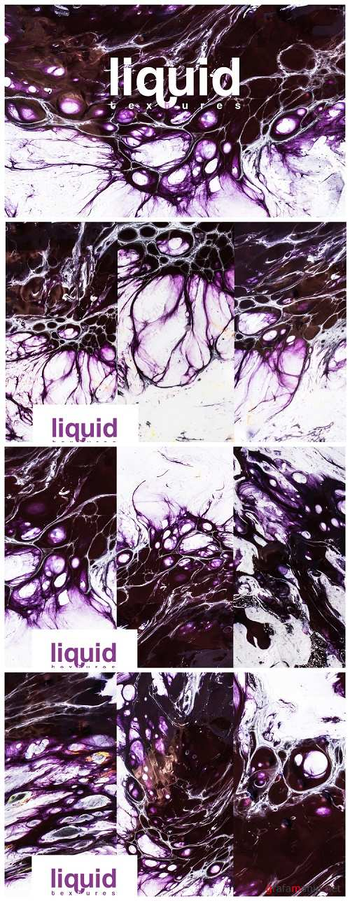 Liquid textures vol 4 backgrounds marble acrylic watercolor - 250863